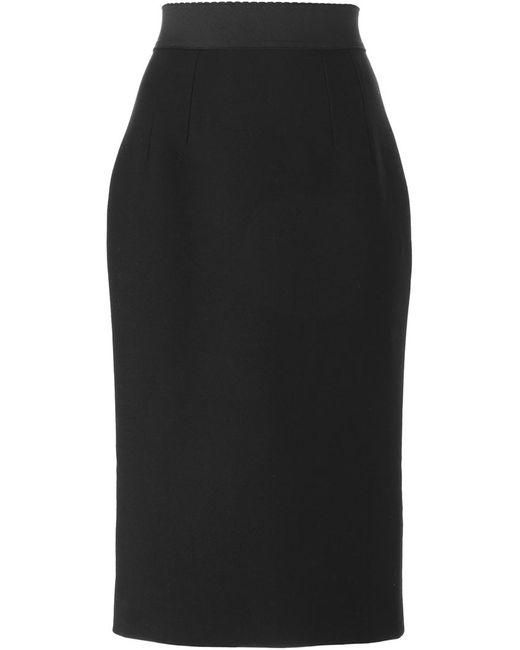 Dolce & Gabbana | Женская Чёрная Юбка Прямого Кроя