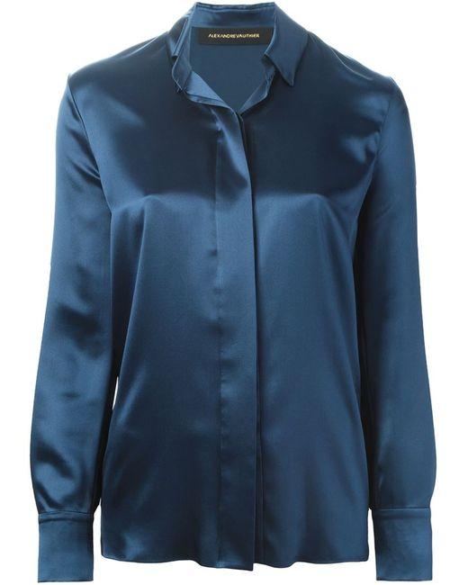 Alexandre Vauthier   Женская Синяя Классическая Рубашка