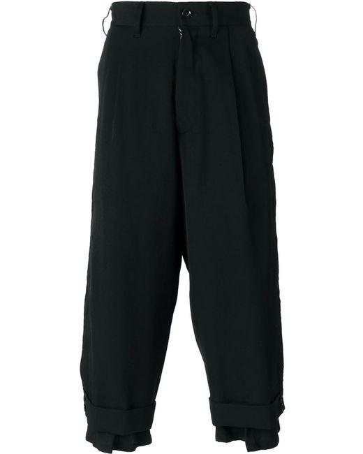 Yohji Yamamoto | Чёрный Buttoned Cuff Trousers
