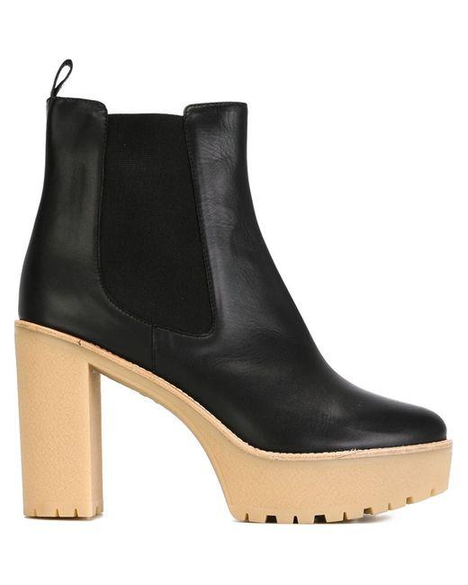 Red Valentino   Женское Чёрный Platform Block Heel Boots