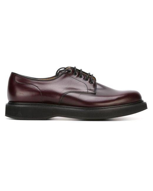 Church'S | Мужские Красные Классические Туфли-Дерби