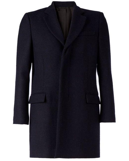 Faith Connexion | Мужское Синее Короткое Однобортное Пальто