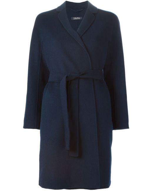 'S Max Mara | Женское Синее Пальто Mina