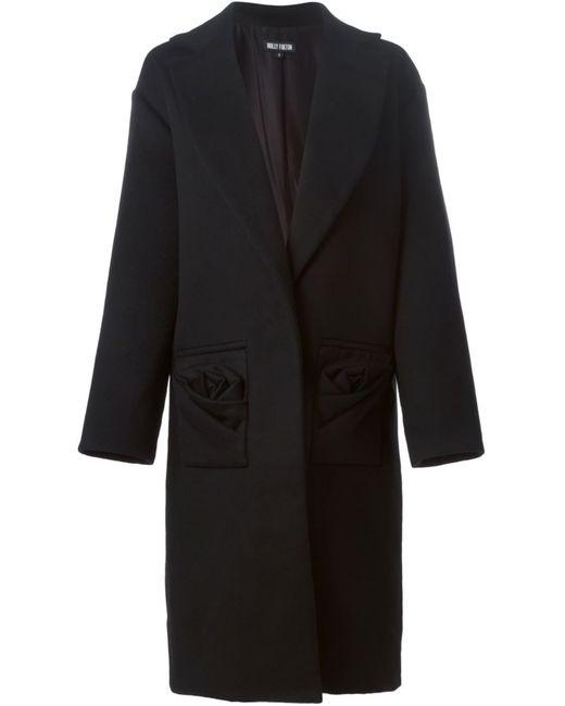 Holly Fulton   Женское Чёрное Однобортное Пальто