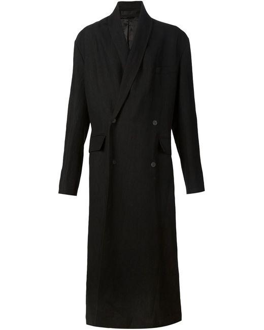 Haider Ackermann | Мужское Чёрное Удлиненное Пальто