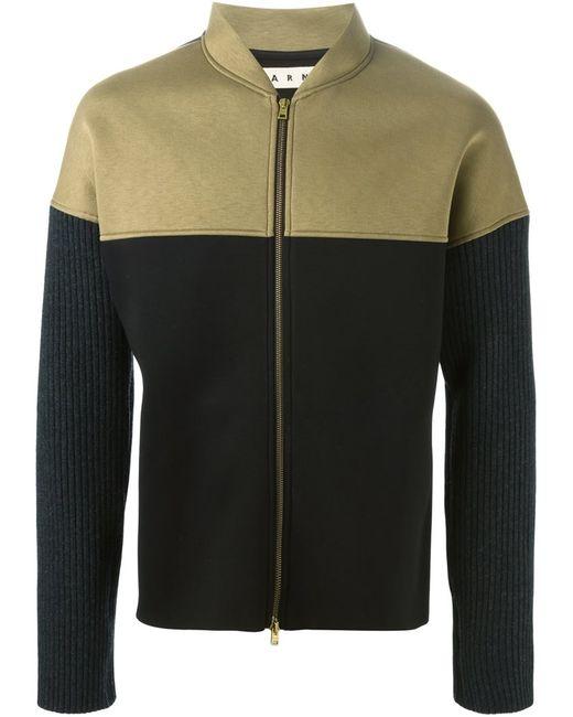 Marni | Мужская Зелёная Куртка Колор-Блок