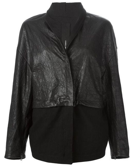 Isabel Benenato | Женская Чёрная Куртка Свободного Кроя С Панельным Дизайном