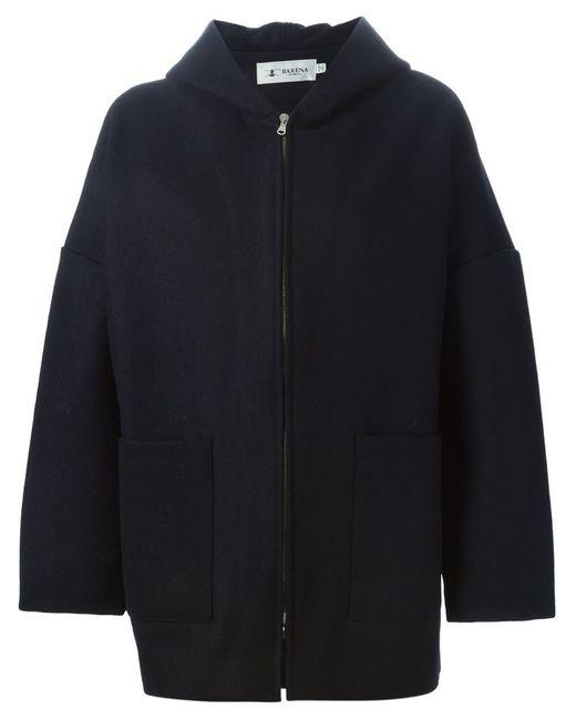 Barena | Женская Синяя Куртка На Молнии С Капюшоном