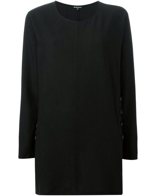 Ann Demeulemeester | Женская Чёрная Блузка С Декоративными Пуговицами
