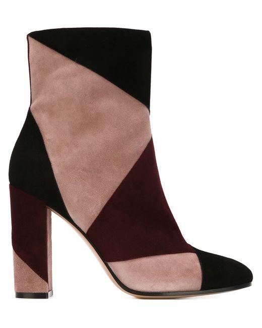 Gianvito Rossi   Женские Чёрные Ботинки С Панельным Дизайном