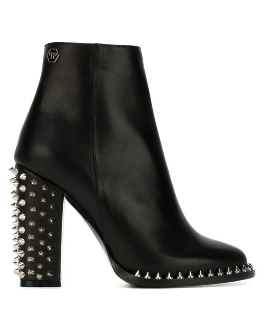 Philipp Plein | Женские Чёрные Ботинки По Щиколотку Shine