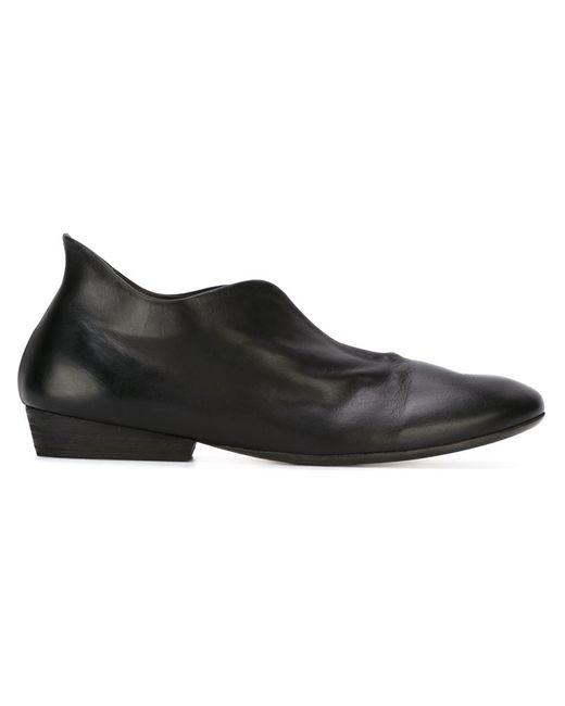 Marsell | Женские Чёрные Туфли С Разрезами Спереди