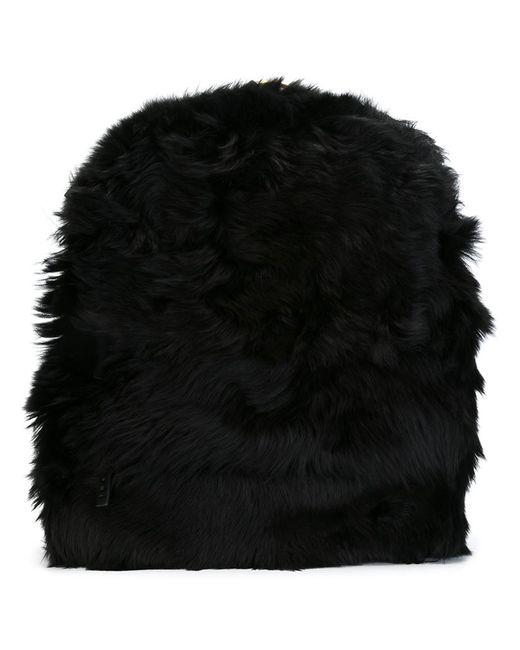 Marni | Женский Чёрный Пушистый Рюкзак