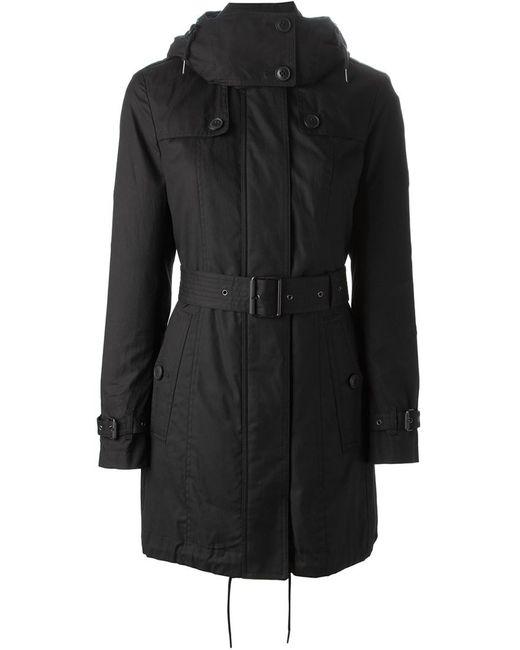Burberry Brit   Женское Чёрный Belted Hooded Coat
