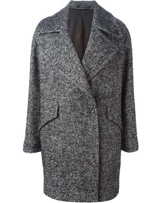 Tagliatore | Женское Серое Пальто В Елочку Agatha
