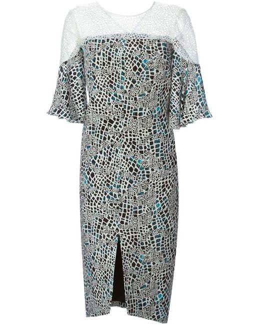 GINGER & SMART | Женский Многоцветный Многосйлоное Платье Oceanic