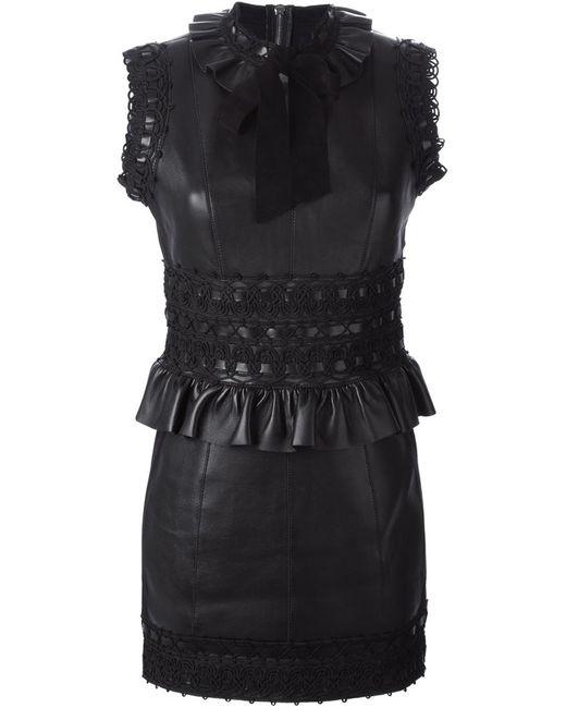 Dsquared2 | Женское Чёрное Платье Мини С Баской