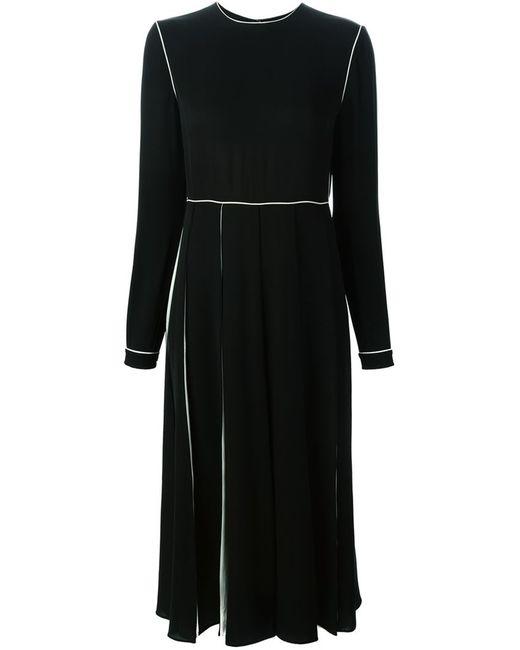 Valentino | Женское Чёрный Contrast Trim Midi Dress