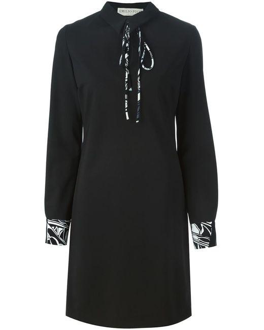 Emilio Pucci | Женское Чёрное Платье С Длинными Рукавами
