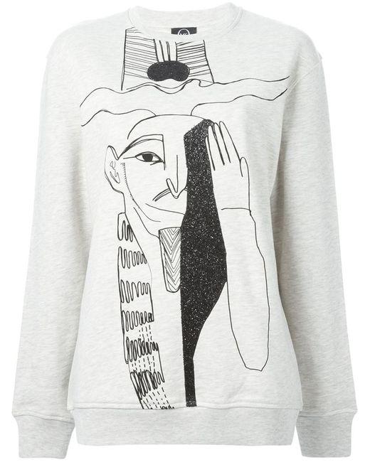 Mcq Alexander Mcqueen   Женское Egyptian Illustration Print Sweatshirt