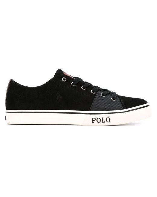 Polo Ralph Lauren | Мужские Чёрные Кеды С Контрастной Вставкой