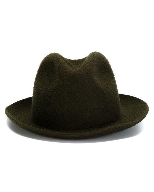 FEDERICA MORETTI | Женская Зелёная Шляпа-Федора