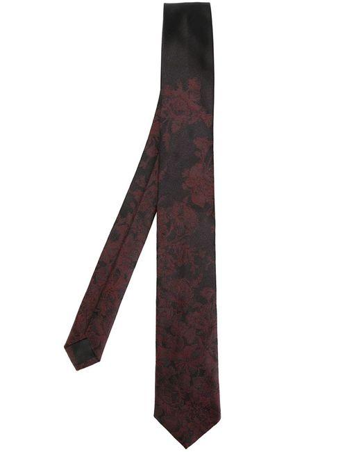 Dolce & Gabbana   Мужской Чёрный Галстук С Цветочным Узором