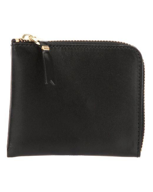 Comme Des Garcons   Женское Чёрный Two Side Zip Classic Wallet