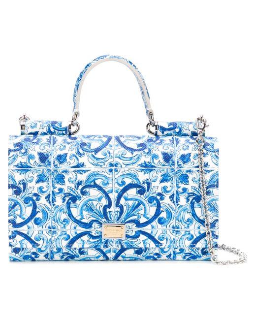 Dolce & Gabbana | Женские Синие Мини Сумка Через Плечо Von