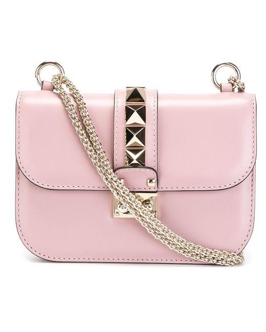Valentino Garavani | Женское Розовый Glam Lock Shoulder Bag