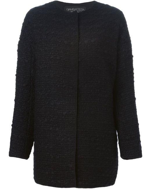 Giambattista Valli | Женское Чёрное Пальто Букле