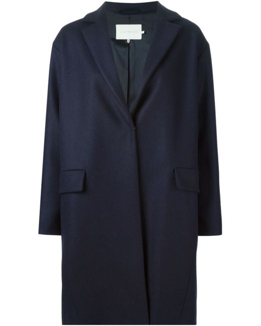 L' Autre Chose   Женское Синее Однобортное Пальто