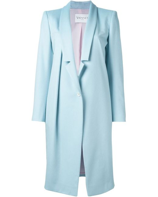 Vionnet   Женское Синее Однобортное Пальто