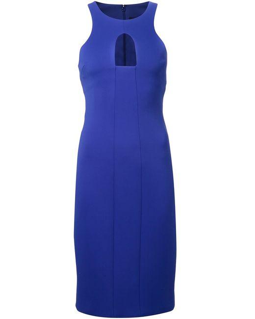 Cushnie Et Ochs   Женское Синее Облегающее Платье