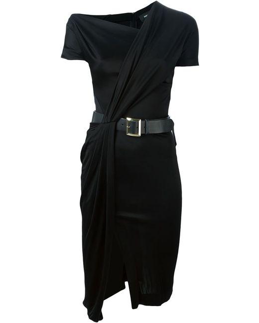 Dsquared2 | Женское Чёрное Платье Асимметричного Кроя