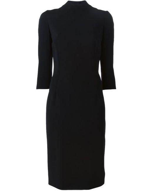 Dolce & Gabbana | Женское Чёрное Облегающее Платье Миди
