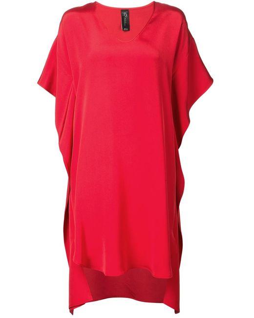 Zero + Maria Cornejo | Женское Красное Асимметричное Шелковое Платье