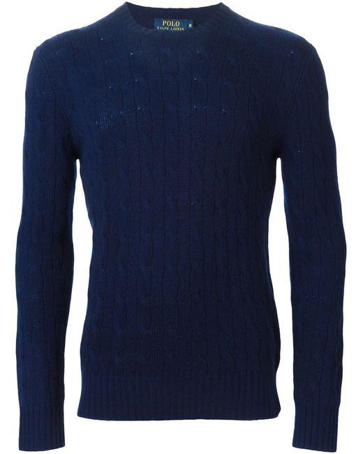 Polo Ralph Lauren | Мужской Синий Свитер С Круглым Вырезом