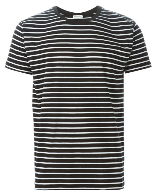 Saint Laurent | Чёрный Striped T-Shirt