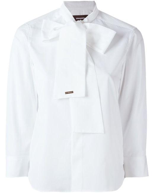 Dsquared2 | Женская Белая Рубашка С Бантом