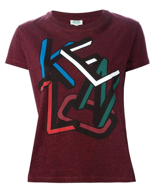 Kenzo | Женское Красный Letters T-Shirt