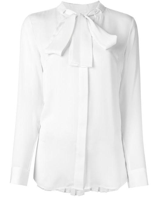 Michael Michael Kors | Женская Белая Плиссированная Рубашка С Бантом
