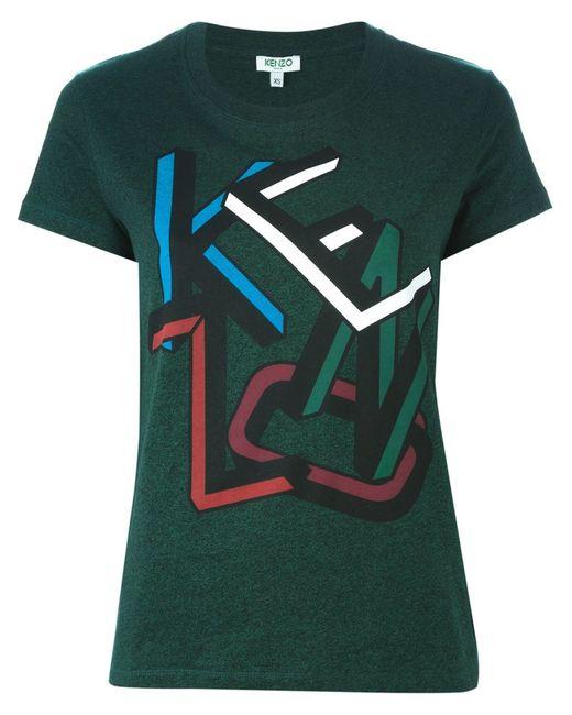 Kenzo | Женское Зелёный Letters T-Shirt