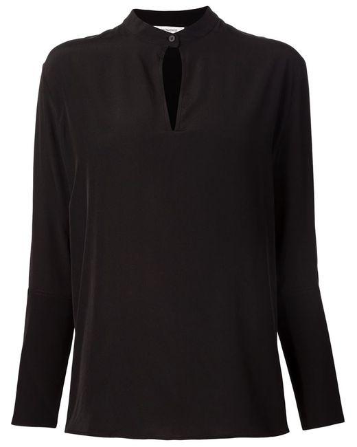 PROTAGONIST | Женская Чёрная Блузка С Вырезом Замочная Скважина
