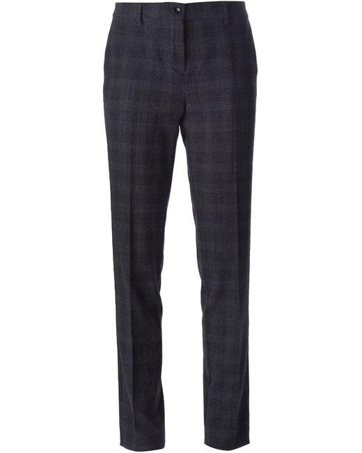 Etro | Женское Чёрный Checked Slim Fit Trousers
