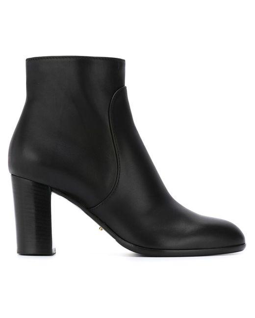 Sergio Rossi | Женские Чёрные Ботинки По Щиколотку