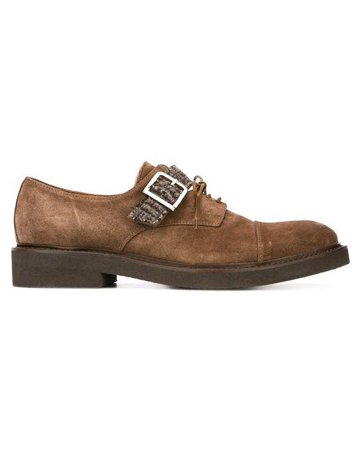 Eleventy | Мужское Коричневый Buckle Detail Shoes