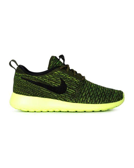 Nike | Женские Жёлтые Кроссовки Roshe One Flyknit