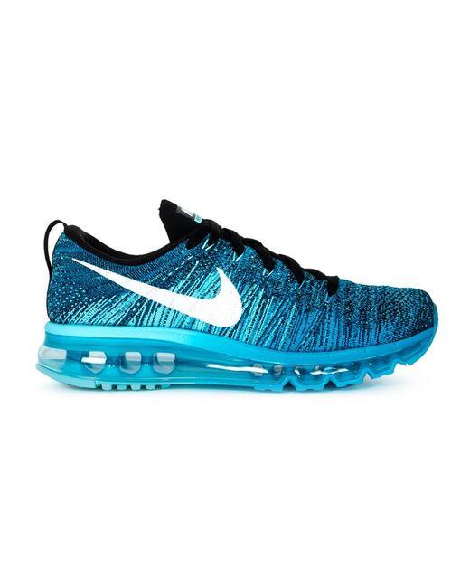 Nike | Женские Синие Кроссовки Flyknit Air Max