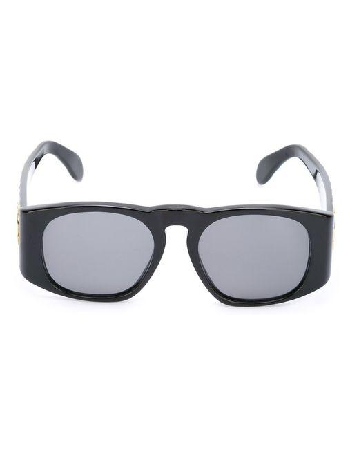 Chanel Vintage | Женские Чёрные Солнцезащитные Очки Со Стеганым Эффектом